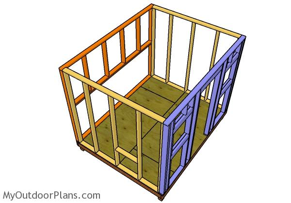 Assembling the chicken coop frame