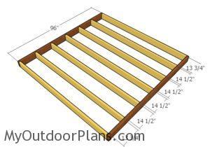 Assembling the floor frame