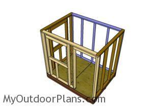 Assembling the frame of the 6x8 shack