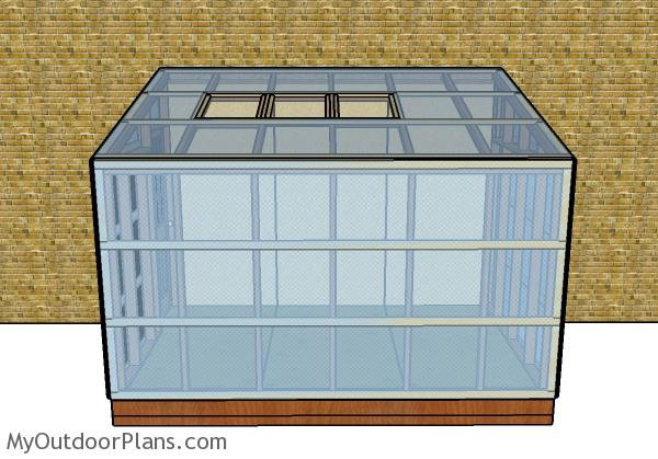 Attached lean to greenhouse plans