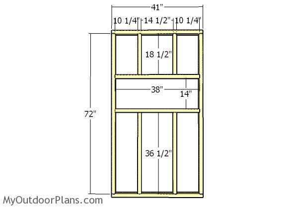 Back wall - Frame