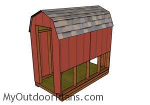 Barn chicken coop plans