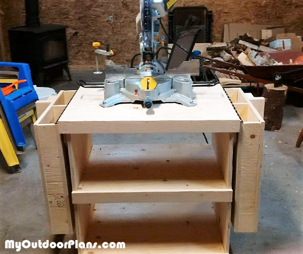 Diy Miter Saw Stand Myoutdoorplans Free Woodworking