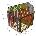 10×12 Gambrel Shed Roof Plans