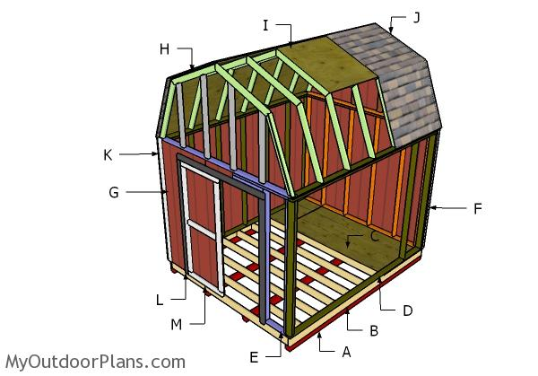 10x12 Gambrel Shed Roof Plans