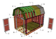 10×16 Barn Shed Roof Plans
