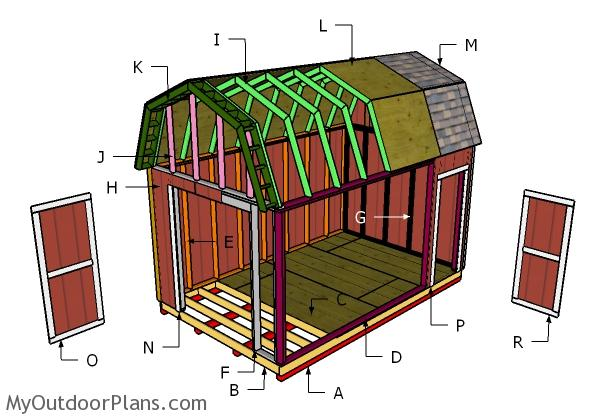 10x16 Barn Shed Roof Plans