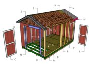 10×16 Gable Shed Roof Plans