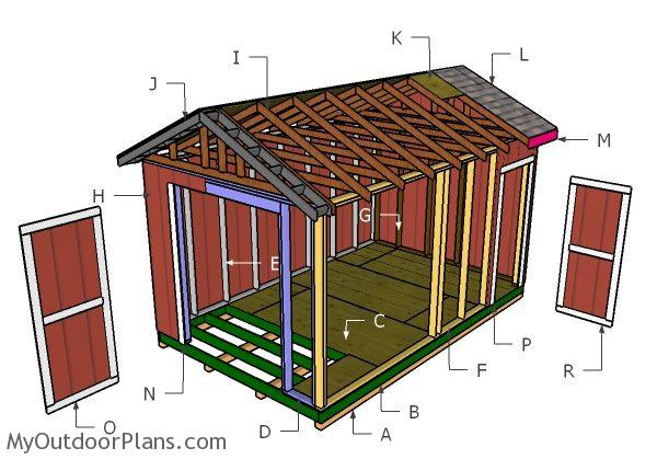 10x16 Gable Shed Roof Plans Myoutdoorplans Free