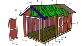 10×20 Gable Shed Roof Plans