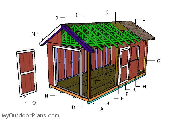 10x20 Gable Shed Roof Plans Myoutdoorplans Free
