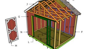 12×10 Shed Roof Plans