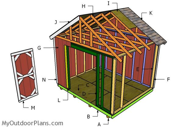 12x10 Shed Roof Plans