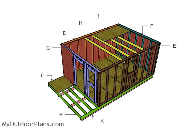 Marvelous 12X20 Small Cabin Plans Diy Hunting Shack Myoutdoorplans Largest Home Design Picture Inspirations Pitcheantrous