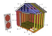 12×8 Shed Roof Plans