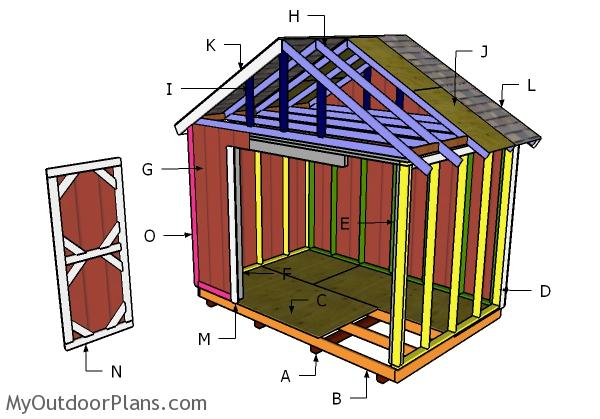 12x8 Shed Roof Plans