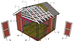 14×14 Gable Shed Roof Plans