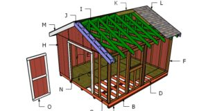 14×16 Gable Shed Roof Plans