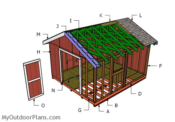 14x16 Gable Shed Roof Plans