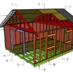 16×20 Gable Shed Roof Plans