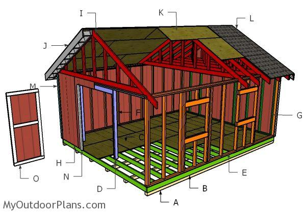 16x20 Gable Shed Roof Plans Myoutdoorplans Free