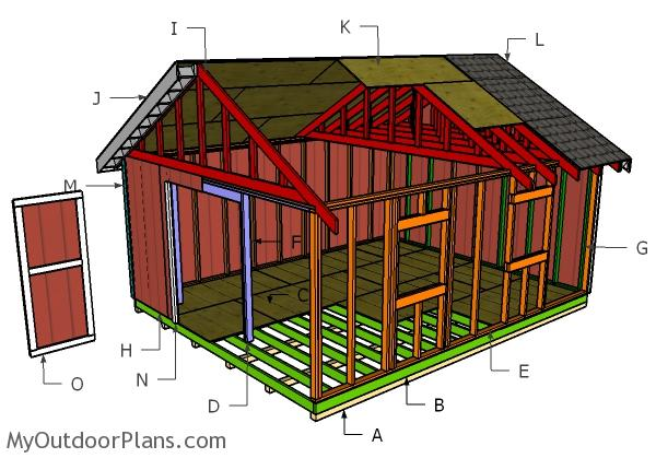 16x20 shed plans myoutdoorplans free woodworking plans for 16x20 garage plans