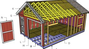 16×24 Gable Shed Roof Plans