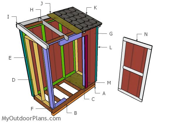 3x6 Lean to Shed Roof Plans