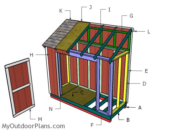 4x10 Lean to Shed Roof Plans