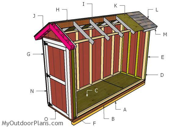 4x12 Gable Roof Plans Myoutdoorplans Free Woodworking