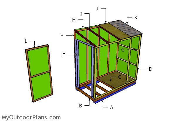 4x8 ice shack roof plans myoutdoorplans free for Hunting shack floor plans