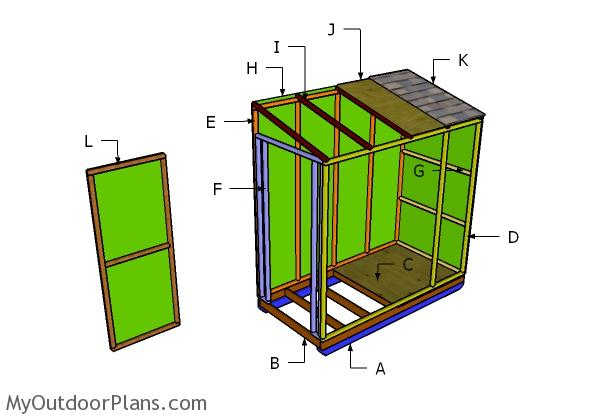4x8 ice shack roof plans | myoutdoorplans | free woodworking plans