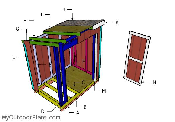 5x7 Lean to Shed Roof Plans