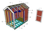6×10 Gable Shed Roof Plans