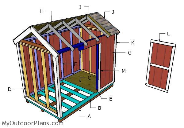 6x10 Gable Shed Roof Plans | MyOutdoorPlans | Free ...