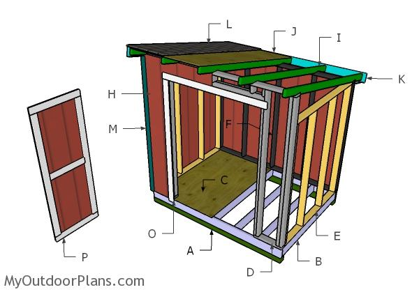 6x8 Lean to Shed Roof Plans