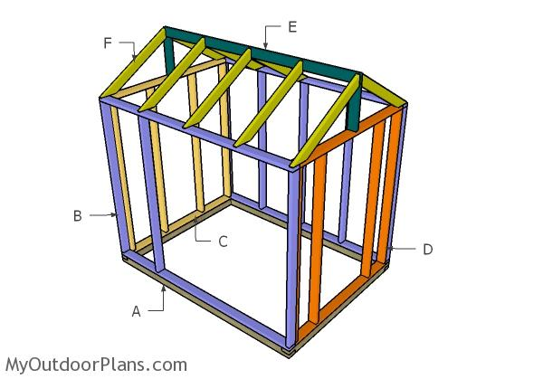 6x8 Greenhouse Door, Vents and Trims Plans