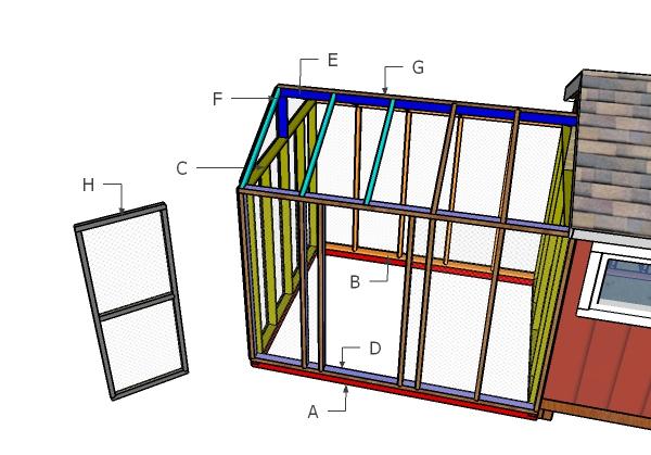 Building a 8x10 chicken run