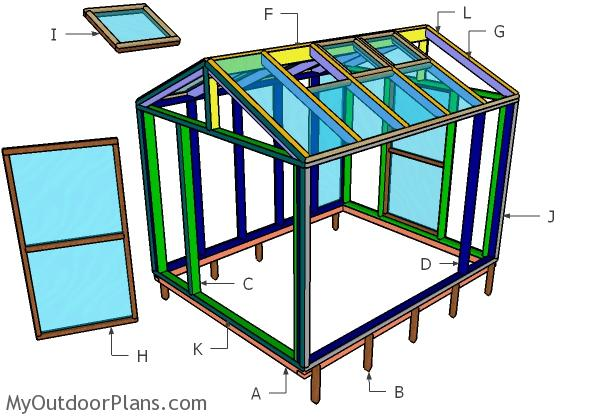 8x10 Greenhouse Doors, Vents and Trims Plans