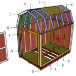 8×12 Gambrel Shed Roof Plans
