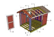 8×12 Shed Roof Plans