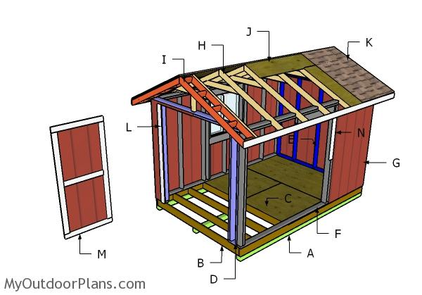 8x12 Shed Roof Plans Myoutdoorplans Free Woodworking Plans And Projects Diy Shed Wooden