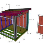 8×8 Lean to Shed Roof Plans