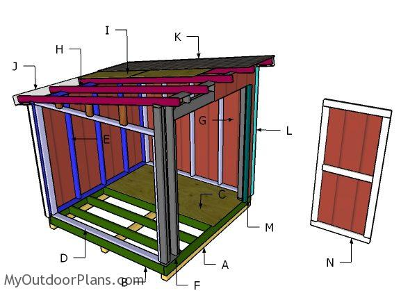 8x8 shed roof plans myoutdoorplans free woodworking for Lean to plans free