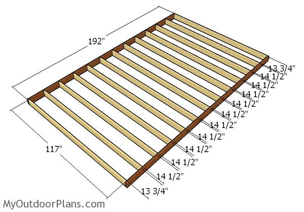 Building a floor frame