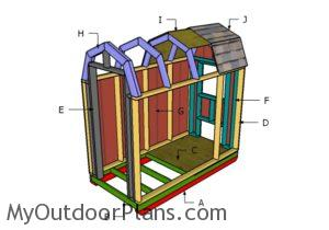 Building a gambrel chicken coop
