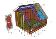 10×12 Greenhouse Shed Roof Plans