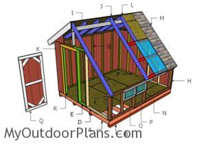 Building a greenhouse shed