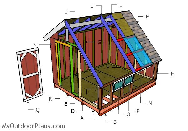 Greenhouse Shed Plans Myoutdoorplans Free Woodworking Plans And Projects Diy Shed Wooden Playhouse Pergola Bbq