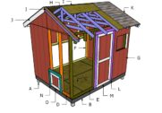 8×10 Chicken Coop Roof Plans